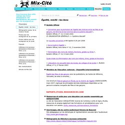 Association Mix-Cité, Education