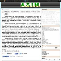11/05/2012 - Ouest France - Ancenis / Clisson : Schéma arrêté fin 2012 - Le blog de l'ASIM - Association de Sauvegarde des Interêts Mouzillonnais