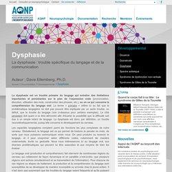 Dysphasie - Association québécoise des neuropsychologues