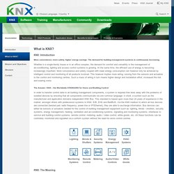 [Official website] »  KNX  » What is KNX?