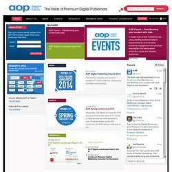 AOP UK: Helping Media Owners Build Better Digital Businesses | AOP UK