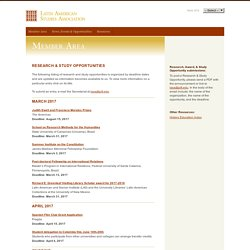 Latin American Studies Association: Research & Study Opportunities