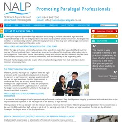 What is a Paralegal? > National Association of Licensed Paralegals