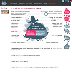 La liste à jour des guides du poisson durable