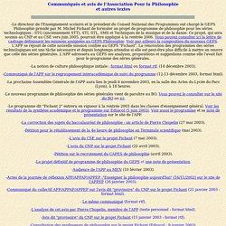 APP - Association Pour la Philosophie (> 2003)