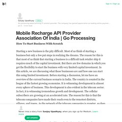 Mobile Recharge API Provider Association Of India