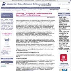 """Témoignage : """"Professeur de français langue seconde dans une CLA"""", par Marie Heimburger"""