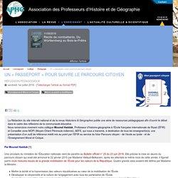 Un « passeport » pour suivre le parcours citoyen - Association des Professeurs d'Histoire et de Géographie
