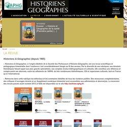 La revue - Association des Professeurs d'Histoire et de Géographie