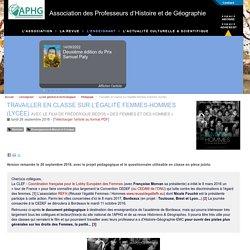 Travailler en classe sur l'égalité femmes-hommes (lycée) - Association des Professeurs d'Histoire et de Géographie