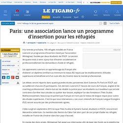 Paris: une association lance un programme d'insertion pour les réfugiés