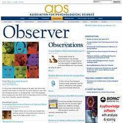 APS Observer - Toy Stories