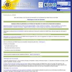 Association Européenne de l'Education : site légèrement ancien