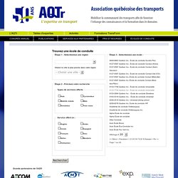 AQTR - ASSOCIATION QUÉBECOISE DU TRANSPORT ET DES ROUTES