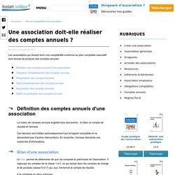 Réaliser le bilan et le compte de résultat d'une association loi 1901- Aide juridique association en ligne gratuite