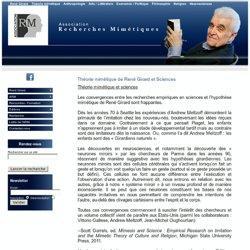 Théorie mimétique de René Girard et Sciences - René Girard - Association Recherches Mimétiques