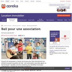 Bail association : réglementation et baux autorisés - Ooreka