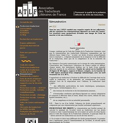 Traduction littéraire - Association des Traducteurs Littéraires de France - Rémunération