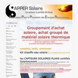 APPER Solaire - Association pour la Promotion des Energies Renouvelables