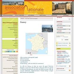 Nancy - Association Nationale des Villes et Pays d'art et d'histoire et des Villes à Secteur Sauvegardé et Protégé