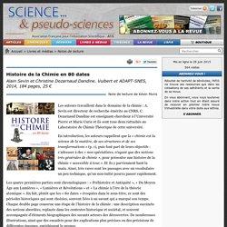 Histoire de la Chimie en 80 dates - Alain Sevin et Christine Dezarnaud Dandine