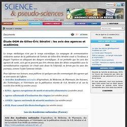 Étude OGM de Gilles-Éric Séralini : les avis des agences et académies