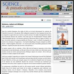 Science, nature et éthique - 309 - juillet 2014