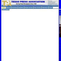 Texas Press Association - Serving Texas newspapers since 1880