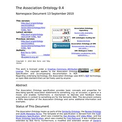 The Association Ontology Specification