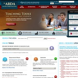 The Association of Religion Data Archives - Religion Statistics and Data - ARDA