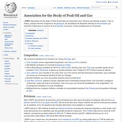 Association for the Study of Peak Oil and Gas
