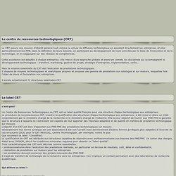 ## AFCRT ## Association Francaise des Centres de ressources Technologiques