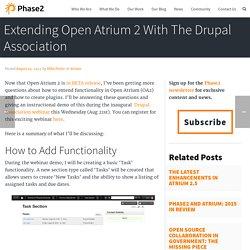 Extending Open Atrium 2 With The Drupal Association