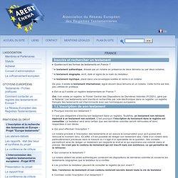 France - Association du Réseau Européen des Registres Testamentaires