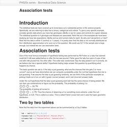 Association tests