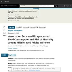 Association Between Ultraprocessed Food Consumption and Risk of Mortality Among Middle-aged Adults in France.