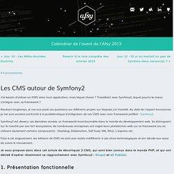Association Francophone des Utilisateurs de Symfony - calendrier de l'avent 2013 - Jour 11 - Les CMS autour de Symfony2