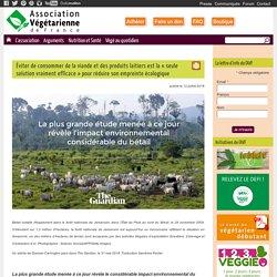 Éviter de consommer de la viande et des produits laitiers est la «seule solution vraiment efficace» pour réduire son empreinte écologique - Association végétarienne de France