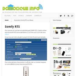 Association Somfy RTS sur Zibase