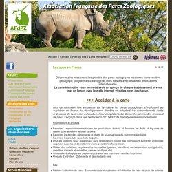 Association Française des Parcs Zoologiques - Les zoos en France