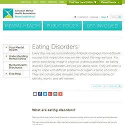 Eating Disorders - Canadian Mental Health AssociationCanadian Mental Health Association