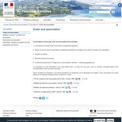 Créer une association / Associations / Démarches administratives / Accueil - Les services de l'État en Polynesie française