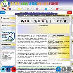Associations : le non-respect des statuts entraîne l'annulation de toutes les décisions prises