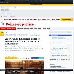 Au tribunal, l'historien Georges Bensoussan face aux associations antiracistes
