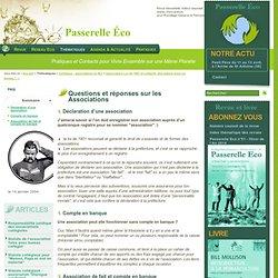 Questions et réponses sur les Associations - F - Association Loi de 1901 et collectif,