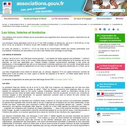 Les lotos, loteries et tombolas - associations.gouv.fr
