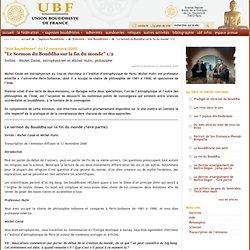 """""""Le Sermon du Bouddha sur la fin du monde"""" 1/2"""