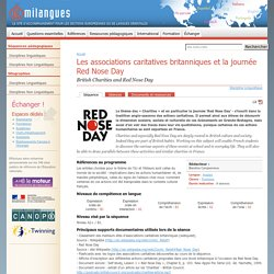 Les associations caritatives britanniques et la journée Red Nose Day