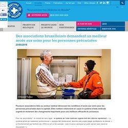 Des associations bruxelloises demandent un meilleur accès aux soins pour les personnes précarisées