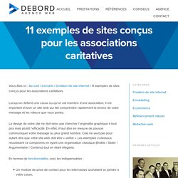 11 exemples de sites conçus pour les associations caritatives